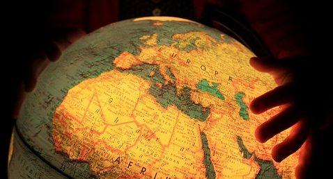 Globe Child Earth Light Africa