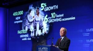 L'imprenditore americano Michael Bloomberg. Uno degli organizzatori del Business Forum