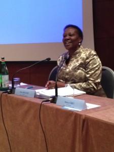Il ministro ugandese dell'Energia e dei Minerali, Irene Muloni.
