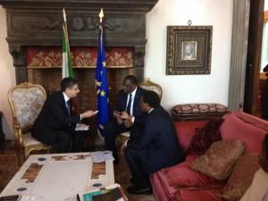 Un momento dell'intervista di Africa e Affari al presidente Macky Sall