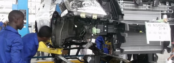LAGOS, Nigeria (May 1, 2014) - Nissan became the first major manufacturer to build a car in Nigeria in response to the introduction of the new Nigeria Automotive Policy.